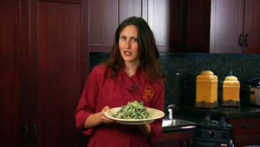 Chef Jenny Ross Makes Kale Salad, Savory Garlic Dressing